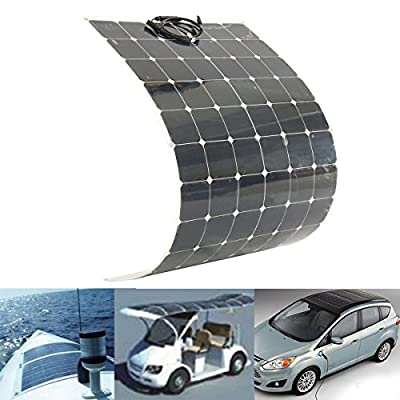 SOPHISTICATE 200W 18V Semi Flexible Solar Panel for Battery Charging Boat Caravan Motor Home