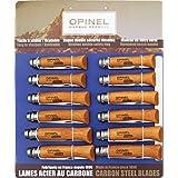 Opinel Knives 82085 Twelve Piece Assortment - Carbon Steel Folding Knives