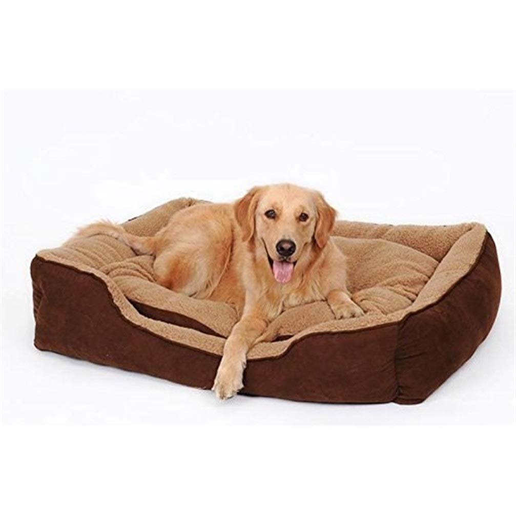 Chunchun Pet Bed Pillow, Soft Warm Plush Material Machine Washable Golden Retriever Medium Large Dog Pet Supplies Four Seasons Universal (Size : L) by Chunchun