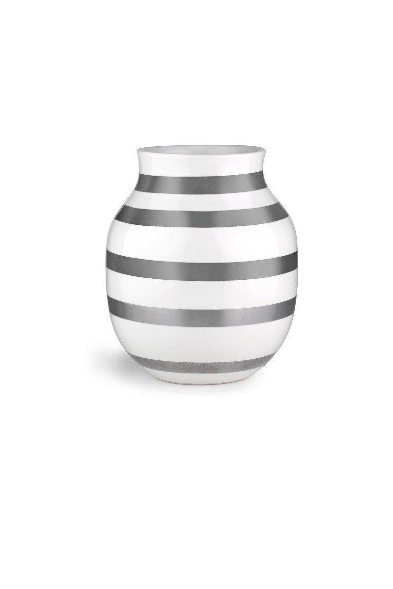 Kahler ケーラーOmaggio Vase オマジオ フラワーベース(M) シルバー 15212 Medium H:20cm B00SP1WI1U