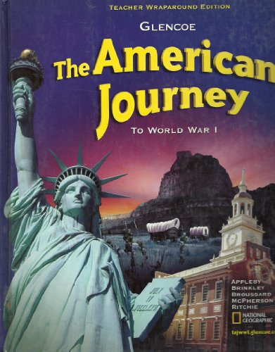 The American Journey To World War I Teacher Wraparound Edition
