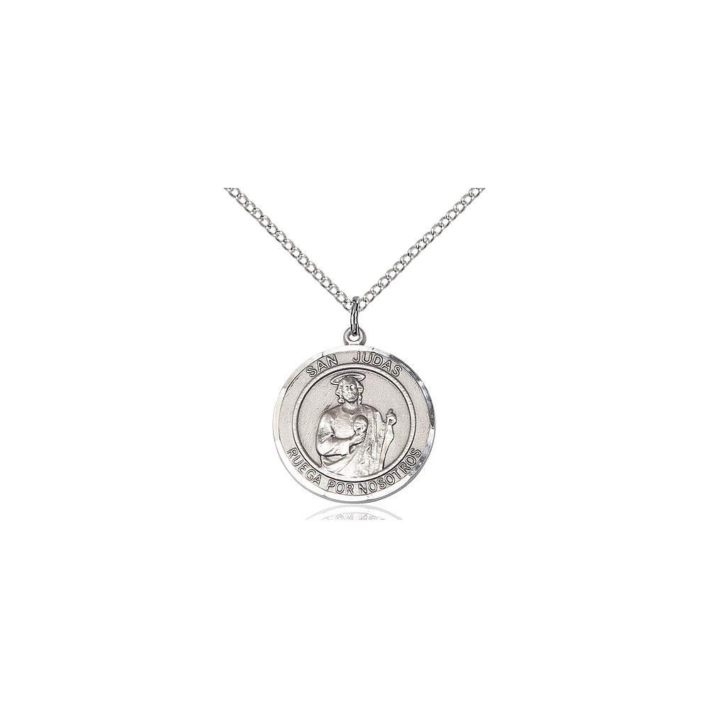 DiamondJewelryNY Sterling Silver San Judas Pendant