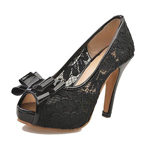 EU39 Scarpe pu ZHZNVX Chunky Casual UK6 Estate ROSA NERO donna per Heel Primavera Beige sandali Comfort US8 Black toe CN39 Peep wU1d1E