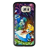 Alice in Wonderland Samsung Galaxy S6 Edge Plus Case, Onelee [Never fade] Disney Alice in Wonderland We're all mad here Cheshire Cat Samsung Galaxy S6 Edge Plus Black TPU and PC Case