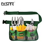 FASITE YL003G 7-Pocket Gardening Tools Belt Bags