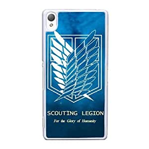 Sony Xperia Z3 Cell Phone Case White Attack on Titan Wings Of Liberty Flag AS7YD3596118