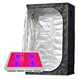 Hongruilite 600W LED Grow Light + 48''x24''x72'' 600D High 96% Reflective Mylar Grow Tent Indoor Hydroponic System Kits (600W LED+48''x24''x72'' w/Plastic Corner)