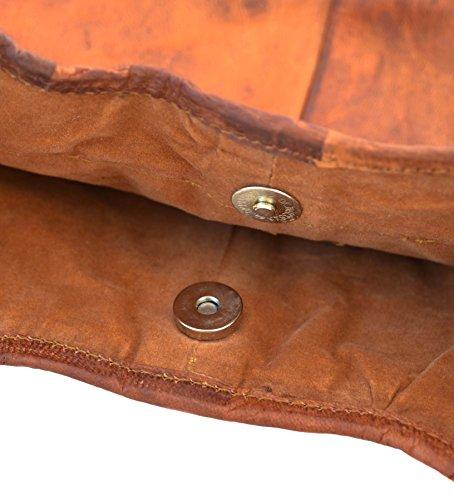 Gusti Leder nature ''Josephine'' Borsa Cuoio a tracolla particolare Borsetta Vintage Ipad a mano grande spalla Università Marrone elegante marrone M11