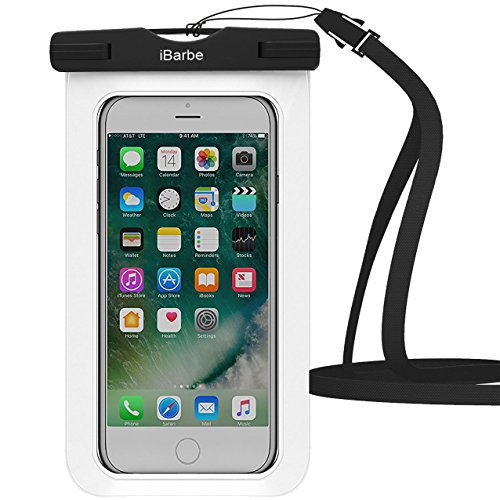 Waterproof Case 1 Pack Ibarbe Universal Cell Phone Dry Bag Pouch Underwater Cover For Apple Iphone 7 7 Plus 6S 6 6S Plus Se 5S 5C Samsung Galaxy Note 5 S8 S8 Plus S7 S6 Edge S5 Etc To 5 7 Inch White