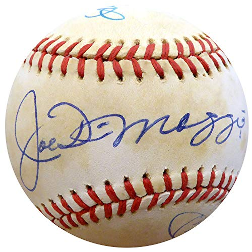 Mickey Mantle Joe Dimaggio & Ted Williams Autographed Official Al Baseball - Beckett Authentic