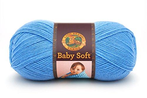 (Lion Brand Yarn 920-107B Babysoft Yarn, Bluebell)