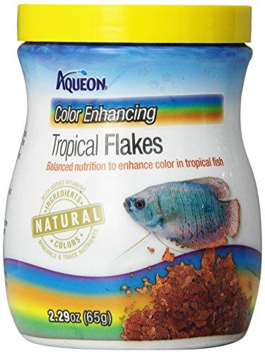 Fish Tropical Food (Aqueon Tropical Color Enhancing Flakes Fish Food, 2.29-Ounce)