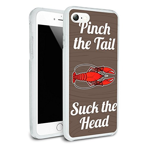 Crawfish Pinch The Tail Suck The Head Crayfish Louisiana Saying Protective Slim Fit Hybrid Rubber Bumper Case Fits Apple iPhone 8