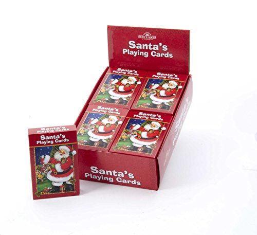 Kurt Adler Santas Playing Cards -