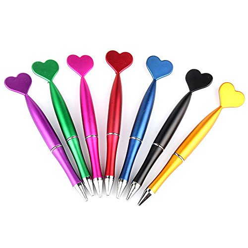Cute Kawaii Heart of the peach Shape Gel Ink Pens school office supplies for girls Stationery novelty pens for kids stationary (12) for $<!--$13.99-->
