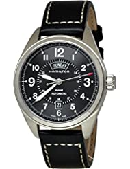 Hamilton Khaki Field Blacl Dial Black Leather Mens Watch H70505733