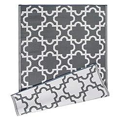 Garden and Outdoor DII Reversible Indoor/Outdoor Lattice Woven Rug, 4×6 Ft, Gray outdoor rugs