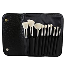Morphe 10 Piece Deluxe Brush Set w/ Ostrich Skin Snap Case -Set 692 by Morphe Brushes