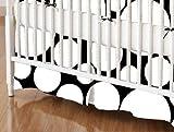 SheetWorld - Crib Skirt (28 x 52) - White On Black Dots - Made In USA