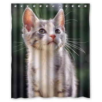 Alexander clásica diseño de gatos mascota lindo de impresión de cortina de baño ducha cortinas de