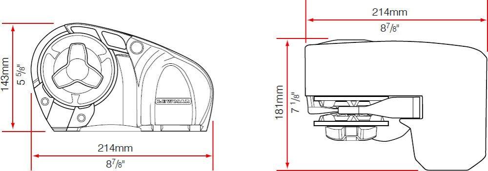 51OphCNWH%2BL._SL1000_ amazon com lewmar pro sport 550 windlass 1 4\