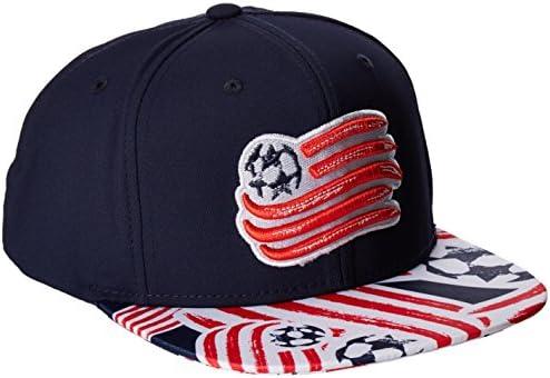 adidas Mens MLS SP17 Fan Wear Script Logo Flat Brim Snapback