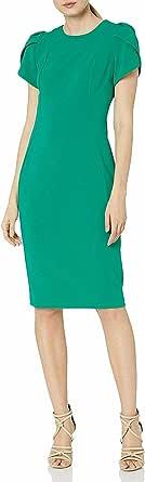 Calvin Klein Women's Short Sleeved Sheath with Princess Seams Dress