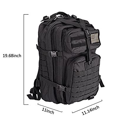 Bworppy Military Tactical Backpack, 40L Outdoor Rucksack, Waterproof 900D Oxford Fabric Assault Pack for Outdoor Hiking Camping Trekking Hunting