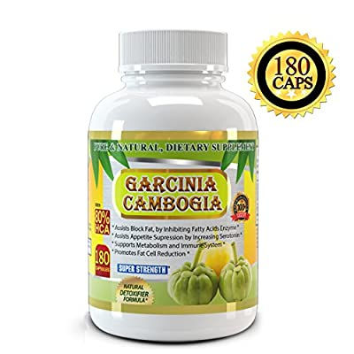 All New Garcinia Cambogia Extract Pure 80% HCA, 1500mg, Premium Quality, 180 Veggie Capsules , Highest Potency, 2 Months Supply, Best Value on Market, Weight Loss Quick with Max Fat Burner, For a Skinnier You Starting Today