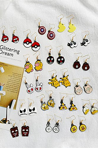 Generic Japan and South Korea cute animal cartoon fun fruit earrings women girls lady temperament simple earrings earrings earrings Xia Jiqing new by Generic