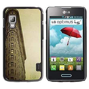 LECELL -- Funda protectora / Cubierta / Piel For LG Optimus L5 II Dual E455 E460 -- Architecture Retro Ligthouse Sea --
