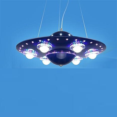 QIYUEQI El techo de la Sala Infantil de hierro LED Luz ...