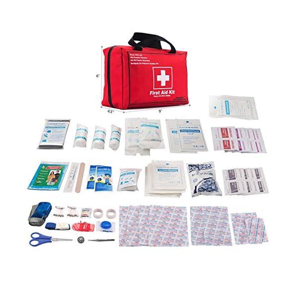 Songwin Botiquín de Primeros Auxilios de 130 artículos,Survival Tools Mini Box -Impermeable Bolsa Médica para el Coche… 2