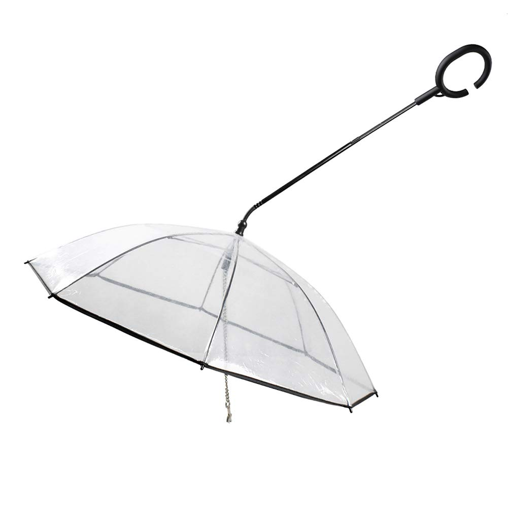 Transparent Pet Umbrella, Dog C Pet Umbrella, Adjustable, Suitable for Pets to Go Out for Rainy Days