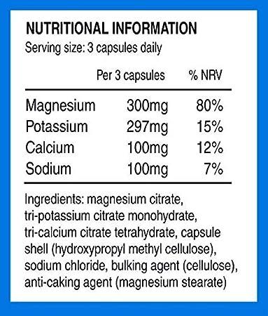 Electrolitos Nutri-Align: Magnesio, Potasio, Calcio, Sodio. Asegura el Balance Saludable de Electrolitos y Ayuda a Reducir la Gripe Ceto (