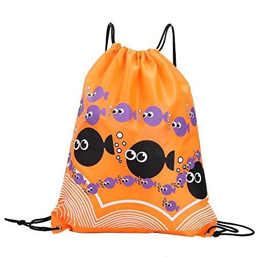 Vinciann - Mochila Bolso Para Mujer Orange Blue Fish Bubbles