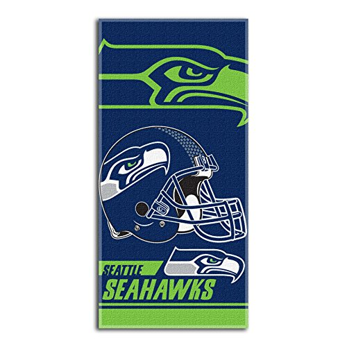 - Seattle Seahawks Double Covered Velour Beach Towel