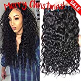 GEM Beauty Brazilian Water Wave Hair 4pcs lot Unprocessed Brazilian Virgin Hair Water Wave Remy Human Hair Weave Wet and Wavy Hair Natural Black Mixed Length 18 20 22 24 inch