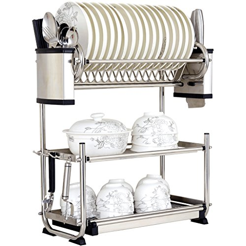 Hyun times Three wall 304 stainless steel dish rack Drain rack dish rack dish rack kitchen shelving rack dishes by Hyun times Bowl shelf