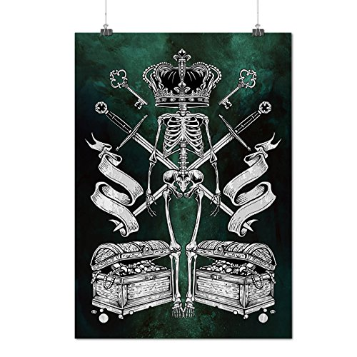 Hannibal King Costume (King Crown Skull Horror Matte/Glossy Poster A2 (60cm x 42cm) | Wellcoda)