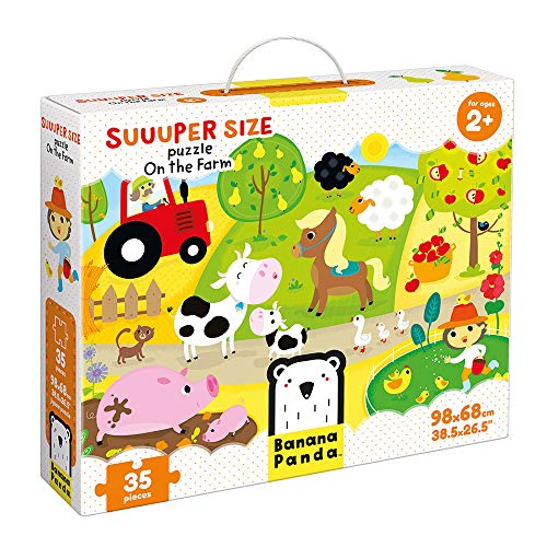 Banana Panda - Suuuper Size Puzzle On the Farm - Large Jigsaw Floor Puzzle for Kids Ages 2 Years and Up