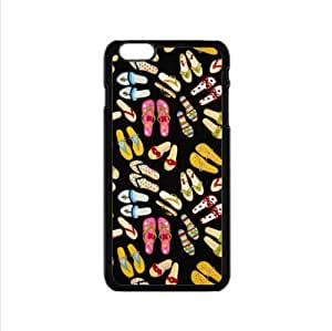funny Flip Flops pattern,colorful slippers art Custom Case for iPhone6 4.7inch PC case cellphone cover black