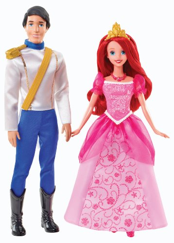 Disney Princess Ariel and Eric Day Out Dolls (And Eric Mattel Ariel)