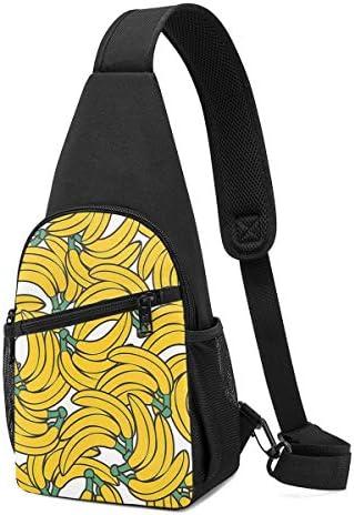 ボディ肩掛け 斜め掛け 黄色バナナ ショルダーバッグ ワンショルダーバッグ メンズ 軽量 大容量 多機能レジャーバックパック