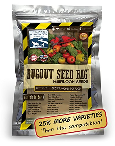 Product Instant Gardens : Survival heirloom seed bag varieties non gmo