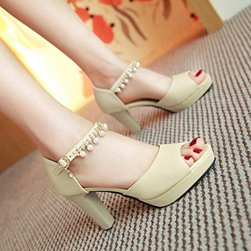 Chanclas heelsWomen oras LI sandalias verano sandalias BAJIAN bajos se toe zapatos Alto peep zapatos wtqfdv1P