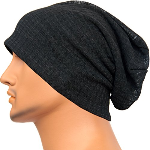 Rayna Fashion Unisex Slouch Beanie Hat Baggy Skullcaps Knit Cap Ribbed Style (Lightweight Ribbed Beanie)