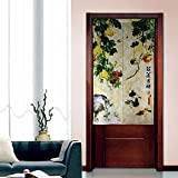Traditional Vintage Fabric Door Curtain Japanese Noren Curtain Bedroom Curtain Doorway Curtain