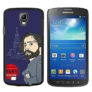 Caucho caso de Shell duro de la cubierta de accesorios de protección BY RAYDREAMMM - Samsung Galaxy S4 Active i9295 - Marte Moscú Rusia vegano atractivo hombre de la música