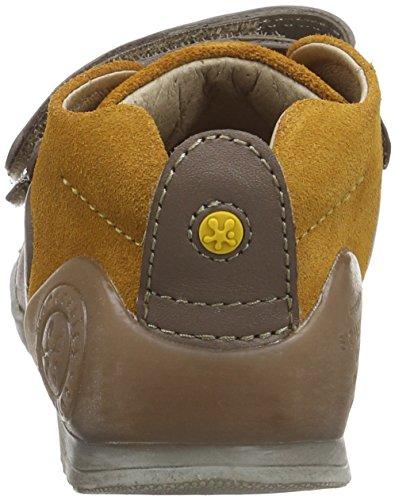 Biomecanics 161143, Zapatos para Bebé Humo / Mostaza (Sauvage / Serraje)
